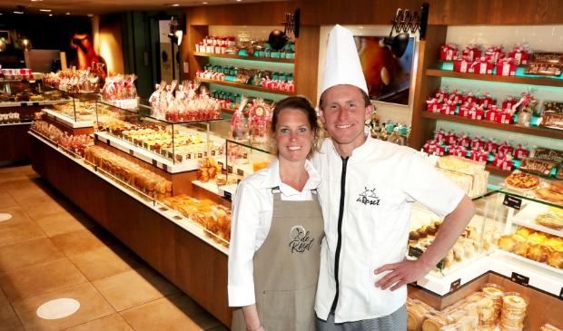 <p>Banketbakker Vince Spijkerman en zijn vrouw Krista.</p>