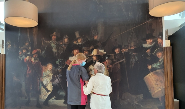 <p>Bewoners van Zuyder Waert kunnen in alle rust Rembrandts meesterwerk bewonderen.</p>