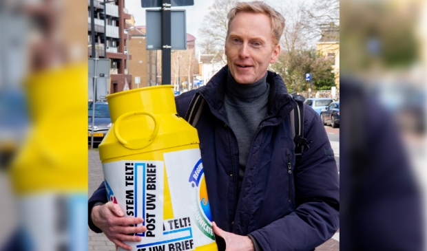<p>Unico van Kooten, initiatiefnemer van de gele melkbus.</p>