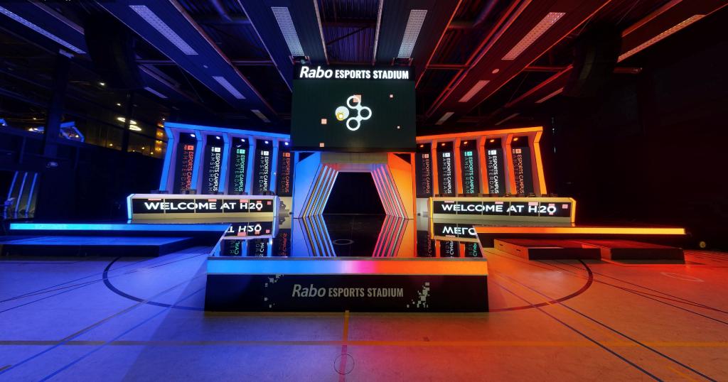 Het Rabo Esports Stadium. De deelnemers aan het VR-event krijgen een digitale rondleiding. (Foto: aangeleverd) © rodi