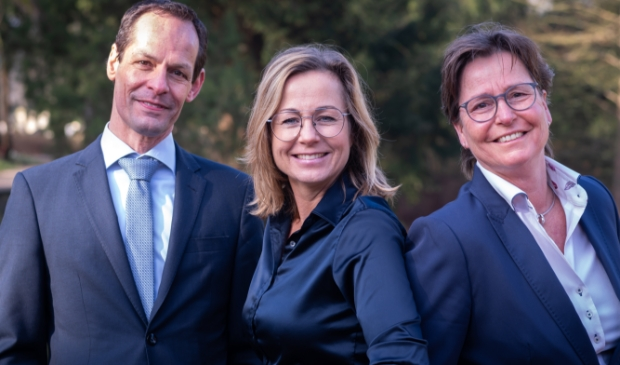 Team Monuta Noord-Holland met vlnr. André Bakker, Dorien Veerman en Petra Timmers.
