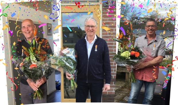 <p>Leo Vlaar, Koos Otten en John de Boer &nbsp;kregen 26 april een Koninklijk lintje van de gemeente Koggenland.</p>