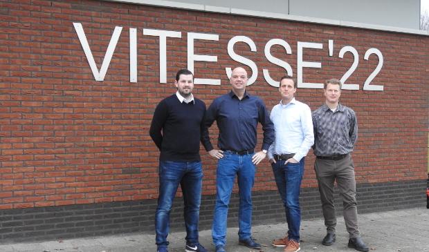 <p>De 100 Jaar Vitesse &rsquo;22 commissie: Koen Glorie, Marcel Krimp, Jacob Stuifbergen en Dennis Vermorken </p>