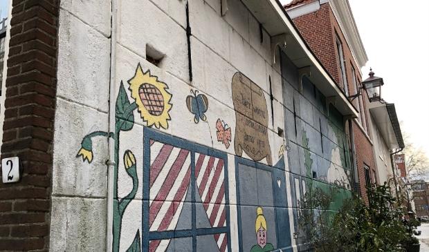 <p>Waar maakte Wendy een foto van deze muurschildering?</p>