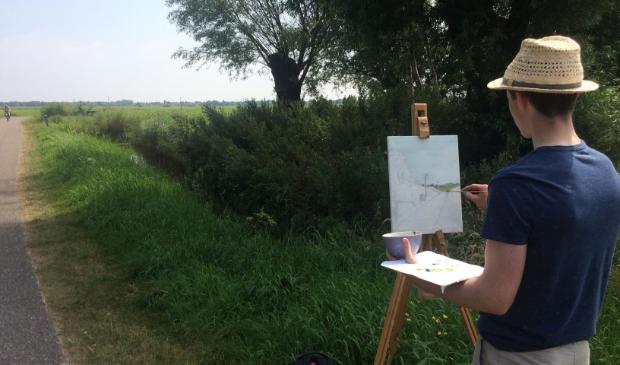 <p>Stichting Oer-IJ hoopt dat amateurkunstenaars er massaal op uit trekken en plein air een tekening of schilderij maken.</p>
