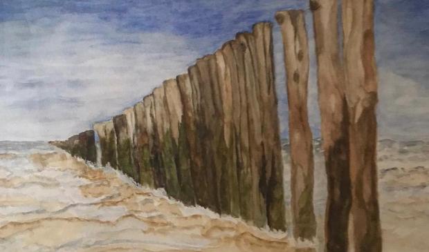 <p>Marian van de graaf schildert onder meer landschappen.</p>