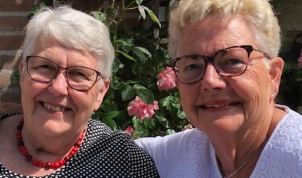 <p>Wil (links) en Gerda al 82 jaar hartsvriendinnen.&nbsp;</p>