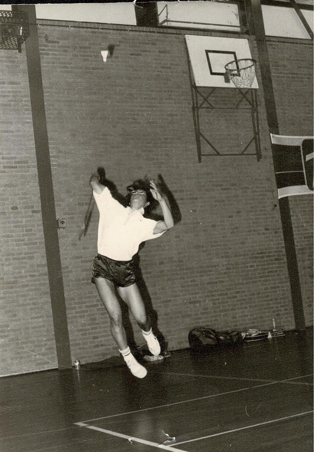 Clubkampioen badminton Sjoerd Oudijk in actie. (Foto: aangeleverd) © rodi