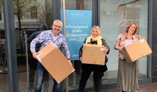 <p>De drie ondernemers uit Beverwijk.</p>