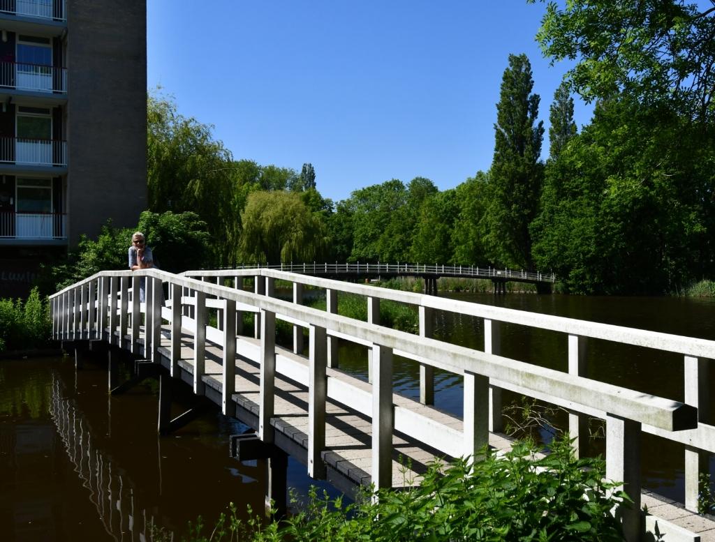 De route voert ook over bruggetjes. (Foto: Dirk Karten) © rodi