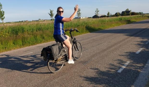 <p>Tessa laat maar wat graag zien hoe fijn fietsen kan zijn!</p>