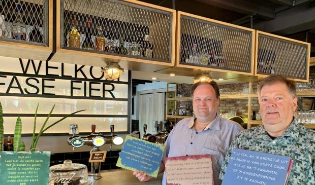 <p>Jeroen van Luiken-Bakker en Bob van Leeuwen, de organisatoren van de Expo&euml;zietie.</p>