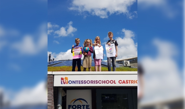 <p>Kinderen van groep 3, 4 en 5 van Montessorischool Castricum werken zes weken aan een klimaatproject .</p>