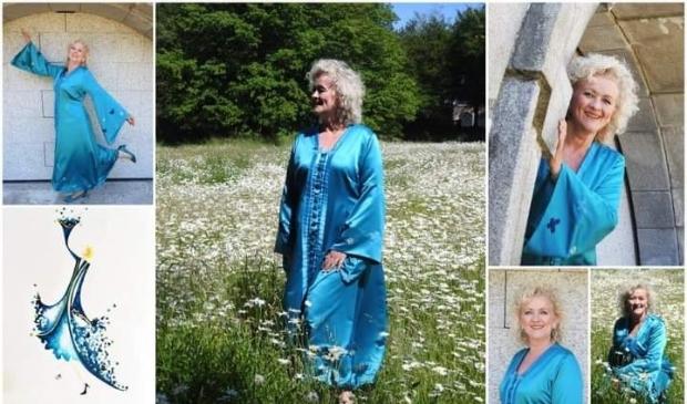 <p>Babs Gerda in haar unieke toga.</p>
