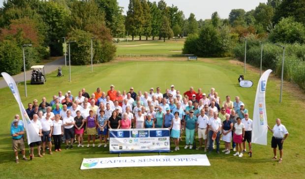 Vrolijkheid bij de deelnemers aan een eerdere editie van het Capels Senior Open.