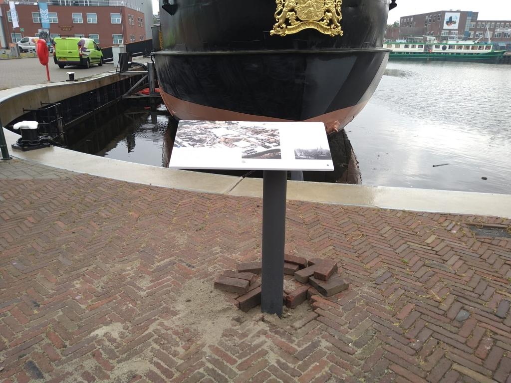 Een van de vertelpunten in Den Helder. (Foto: aangeleverd) © rodi