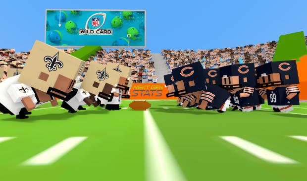 <p>Blockies op basis van een echte NFL-wedstrijd </p>
