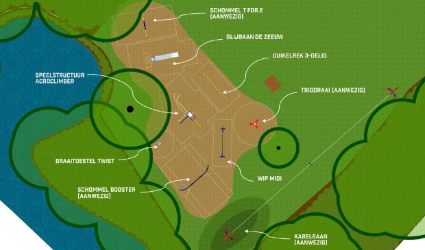 <p>De plattegrond van de speeltuin Burg. van Oorschotplantsoen Ilpendam.</p>