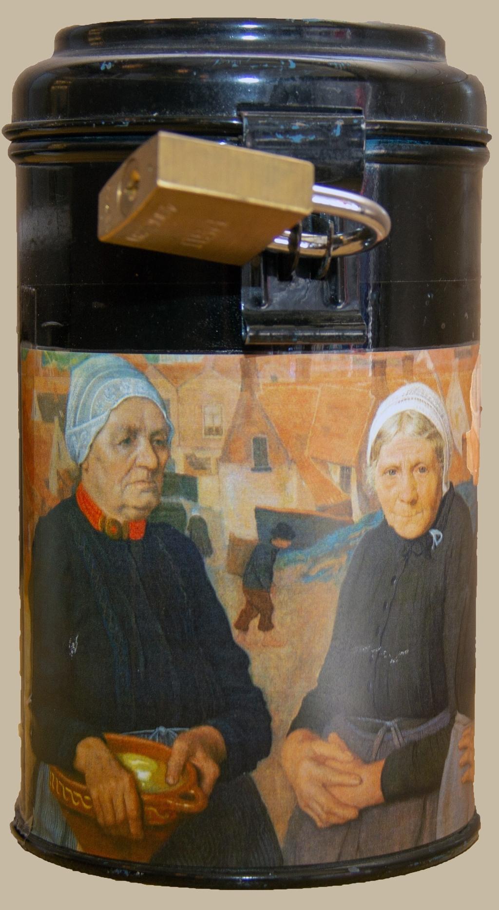 Collectebus voor schilderij 'Egmondse Vissersvrouwen' Foto: Frits van Eck © rodi