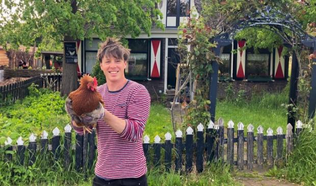 <p>Initiatiefnemer van de Stadsboerderij in Buiksloot, Daan Goppel.</p>