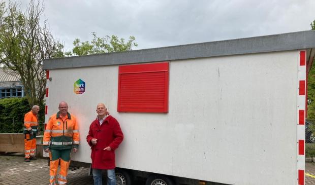 <p>Initiatiefnemer Ron Rote (r) met Niels de Lange van WerkSaam.</p>