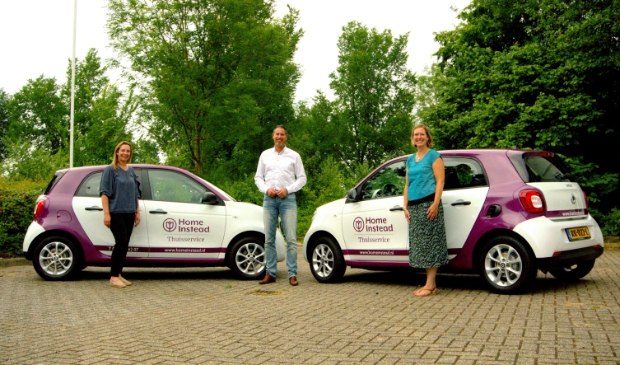 <p>Verschilmakers Janneke, Bas en Sandra werken vol trots voor Home Instead.</p>