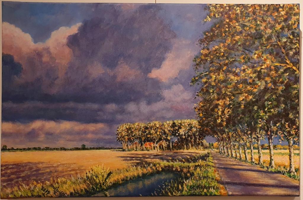 Het schilderij Ruisende bomen van Willem Bakker. (Foto: Zijper Museum) © rodi