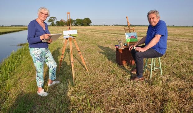<p>Jan en Guus aan de schilder!</p>