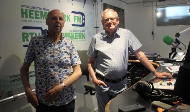 <p>Fred Kos (links) en Henk de Ruijter.</p>