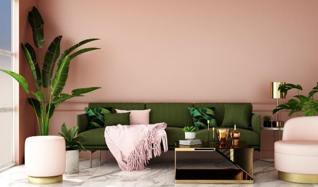 <p>Pastelkleurige meubels ontmoeten rijke materialen. </p>