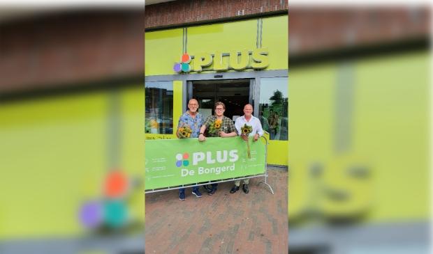 <p>Van links naar rechts staan op de foto, John Moorman, Danny van den Berg en Adri Groen</p>