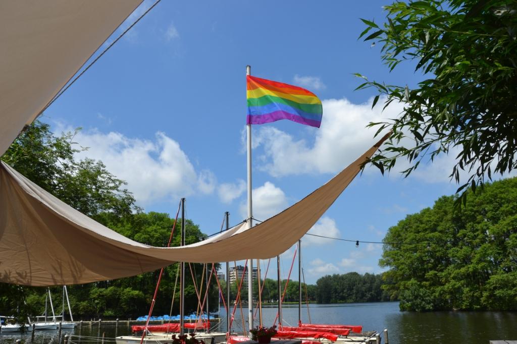 Hier het bewijs: de vlag hangt!  © rodi