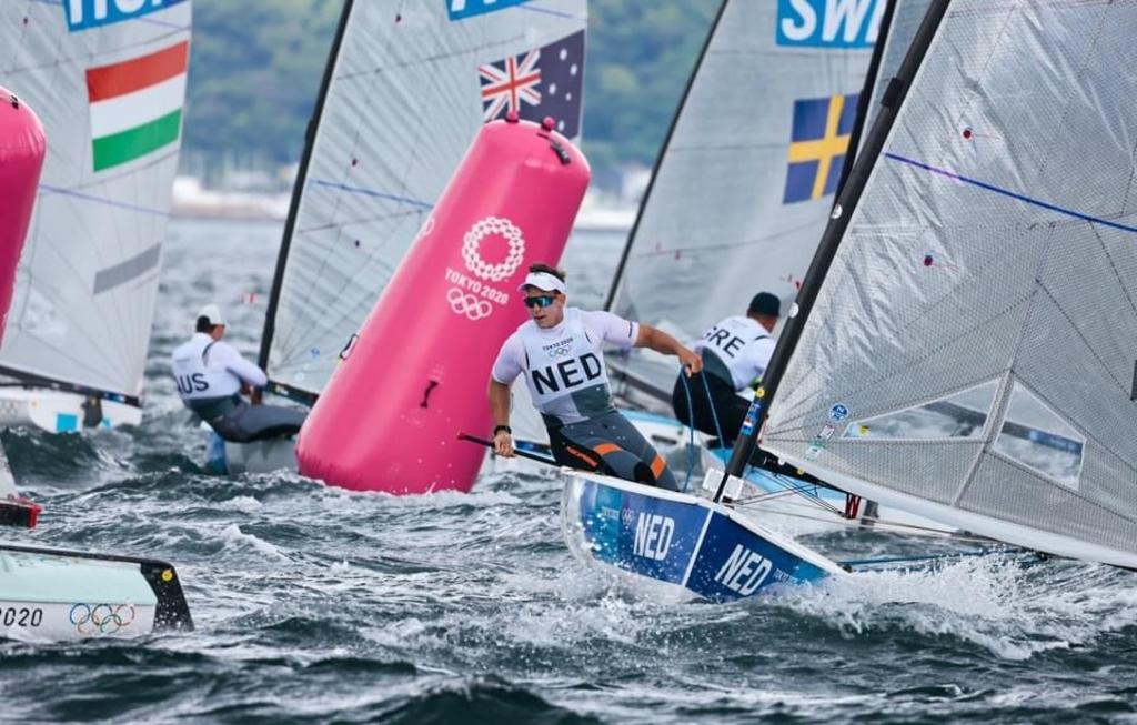 Heiner in actie, Olympische Spelen 28 juli 2021. Foto: World Sailing, Sailing Energie © rodi