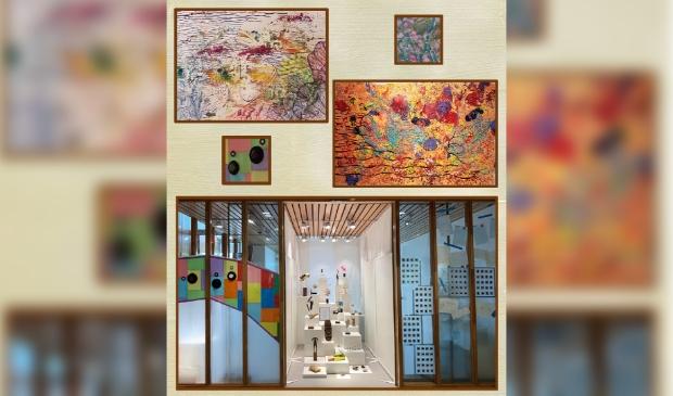 <p>De creaties zijn te zien in een Kunst-Kijkdoos.</p>