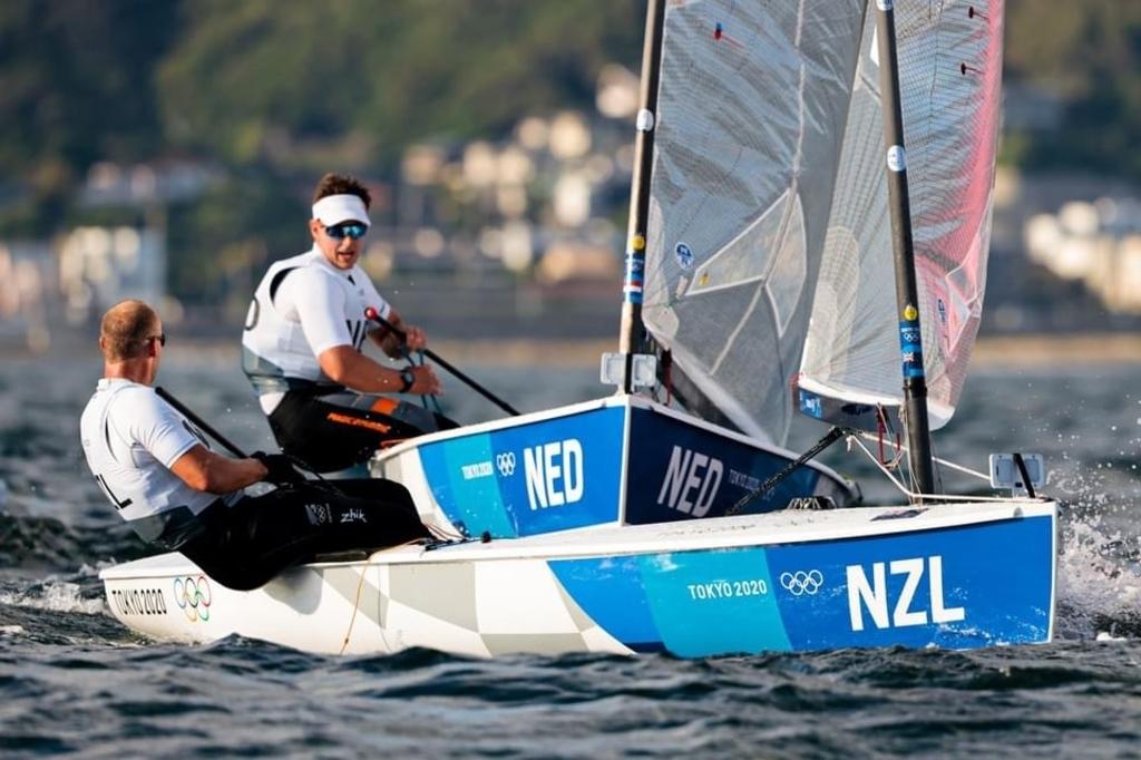 Heiner in Actie, Tokyo 2021. Foto: World Sailing, Sailing Energie © rodi