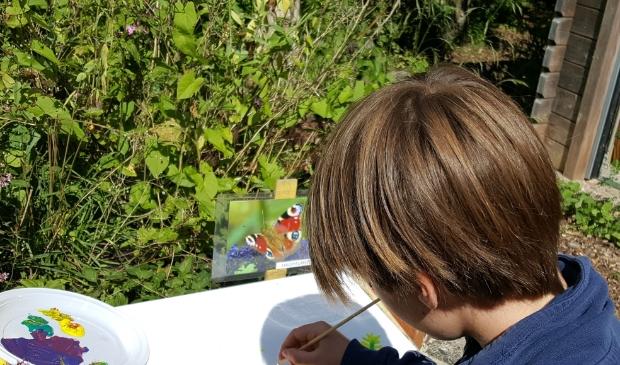 <p>Workshop Schilderen in de natuur voor kinderen bij Hertenkamp Enkhuizen.</p>