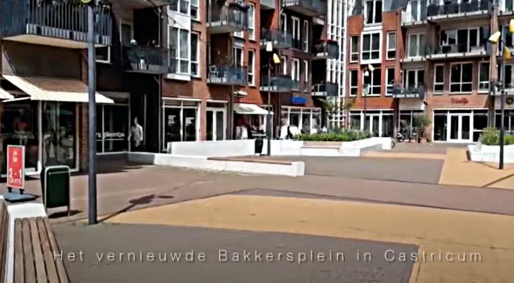Het vernieuwde Bakersplein in Castricum. (Foto: aangeleverd) © rodi