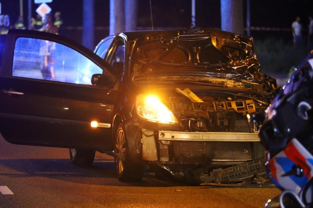 Getuige de schade aan de auto moet de klap enorm zijn geweest. (Foto: Inter Visual Studio/Stefan Roode) © rodi