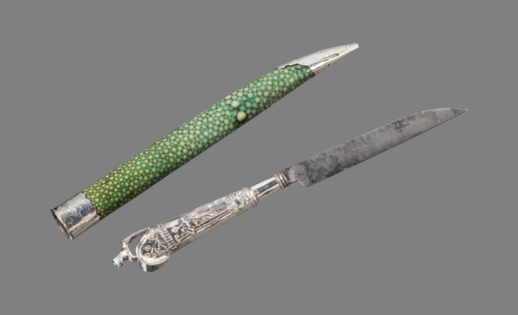 Schede van mes van roggenhuid. (Foto: W.H.Zandbergen, Zuiderzeemuseum) © rodi