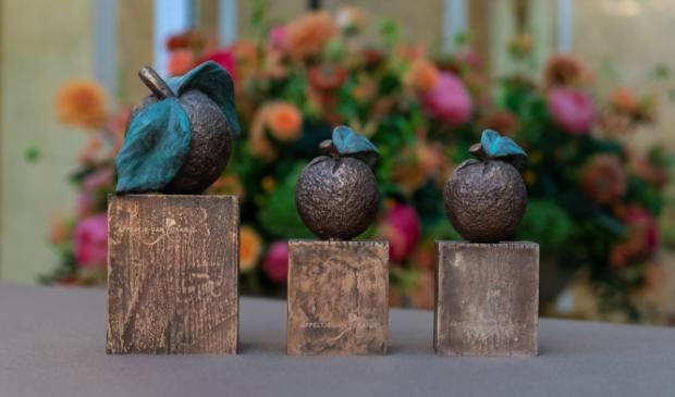 <p>De bronzen Appeltjes van Oranje.&nbsp;</p>