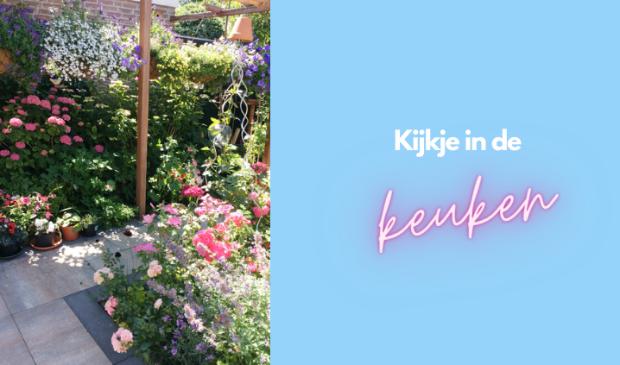 <p>Een zomerse tuin vol bloemen en bijen.&nbsp;</p>