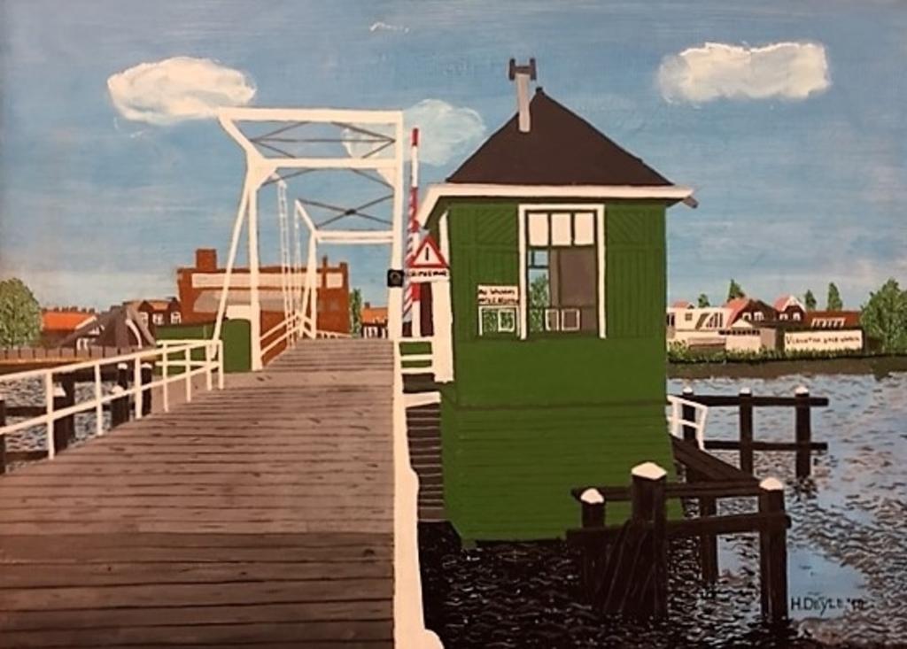 De Noorderbrug van weleer. (schilderij: Henk Deyle)) © rodi
