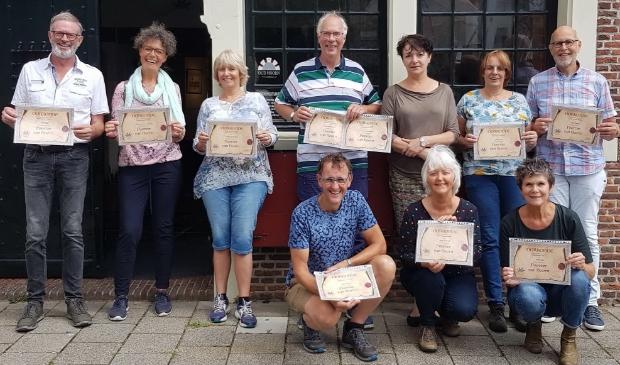 <p>De deelnemers aan de cursus &#39;Cultuurhistorie Hoorn&#39;.</p>