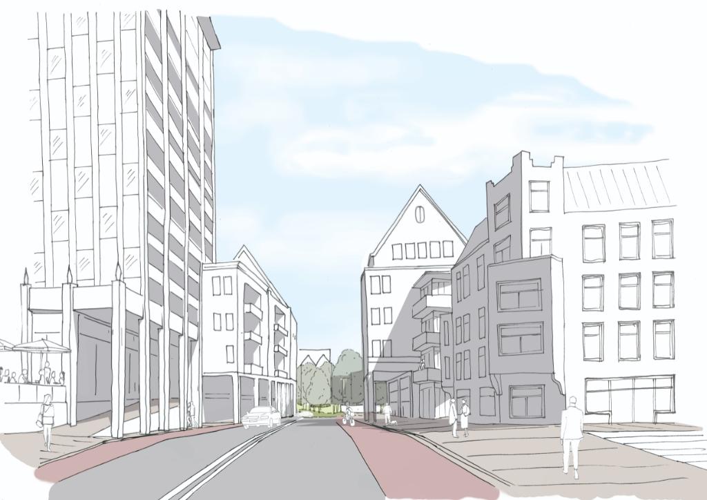 Meer ruimte voor woningen in de nieuwe opzet.. (Artist impression: aangeleverd) © rodi