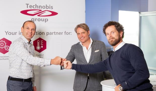 <p>Arnoud Schoorl, John de Kok en Coen Michielsen.</p>