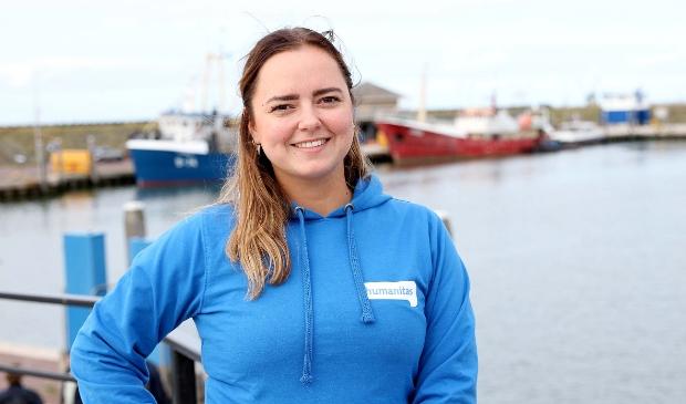 <p>Lori bij de haven van Den Oever.</p>