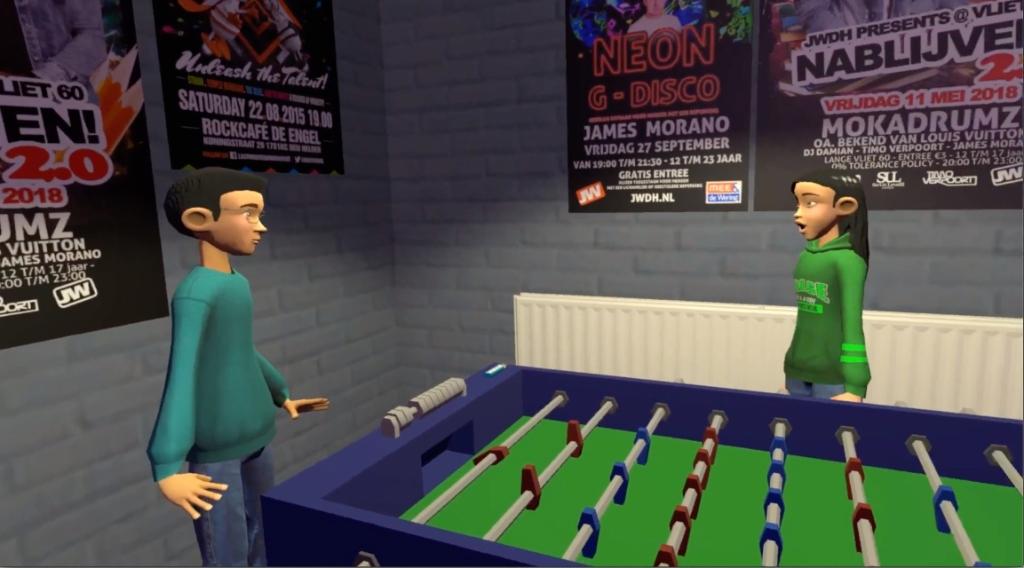 Een van de situaties in de VR-game. ((Foto: PR )) © rodi