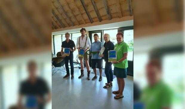 <p>De winnaars van het duurzaamheidskeurmerk zijn trots en blij.</p>