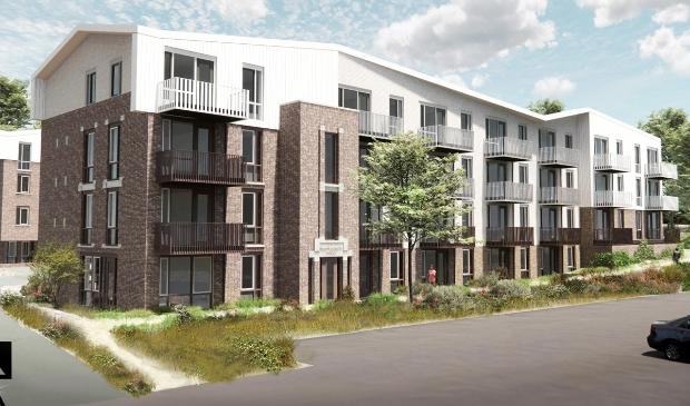 <p>Voorbeeld van 48 sociale woningen ontwikkeld door Kennemer Wonen in Duin & Bosch.</p>