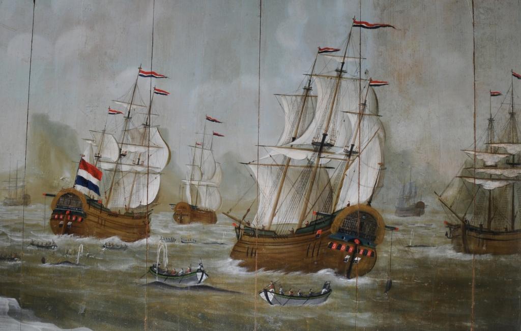 Waarschijnlijk vier bootschepen van de reders Vroon en Bek uit De Rijp. (Foto: aangeleverd) © rodi